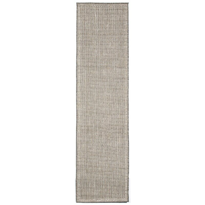 Beachcrest Home Cecile Texture Silver Ivory Indoor Outdoor