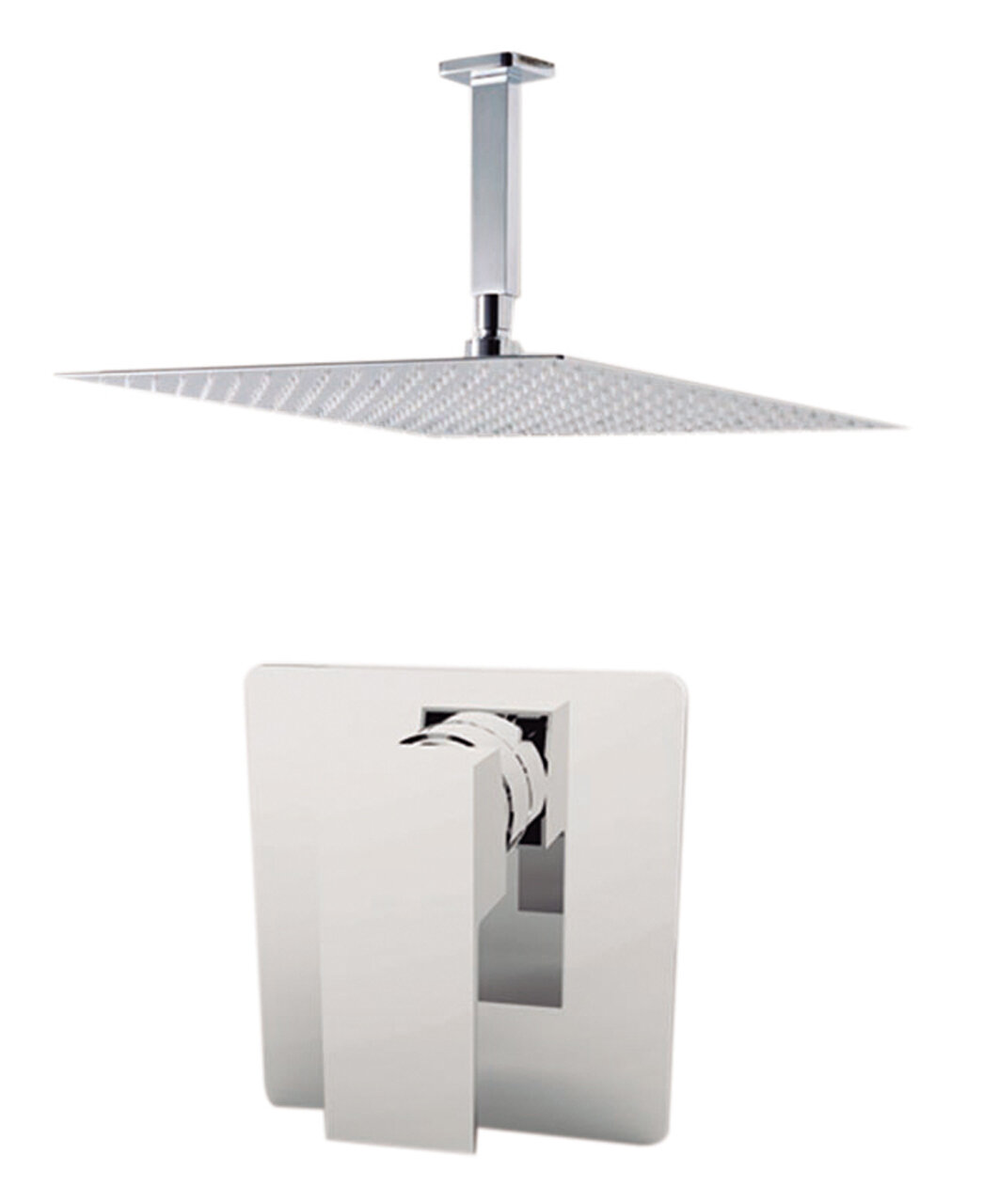Aquamoon Milan Volume Control Shower Faucet With Rough In Valve Trim And Diverter Wayfair