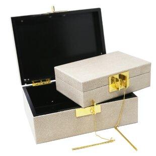 2 Piece Wood Boxes Set ByHighland Dunes