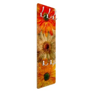 Vintage Flower Mix Wall Mounted Coat Rack By Symple Stuff