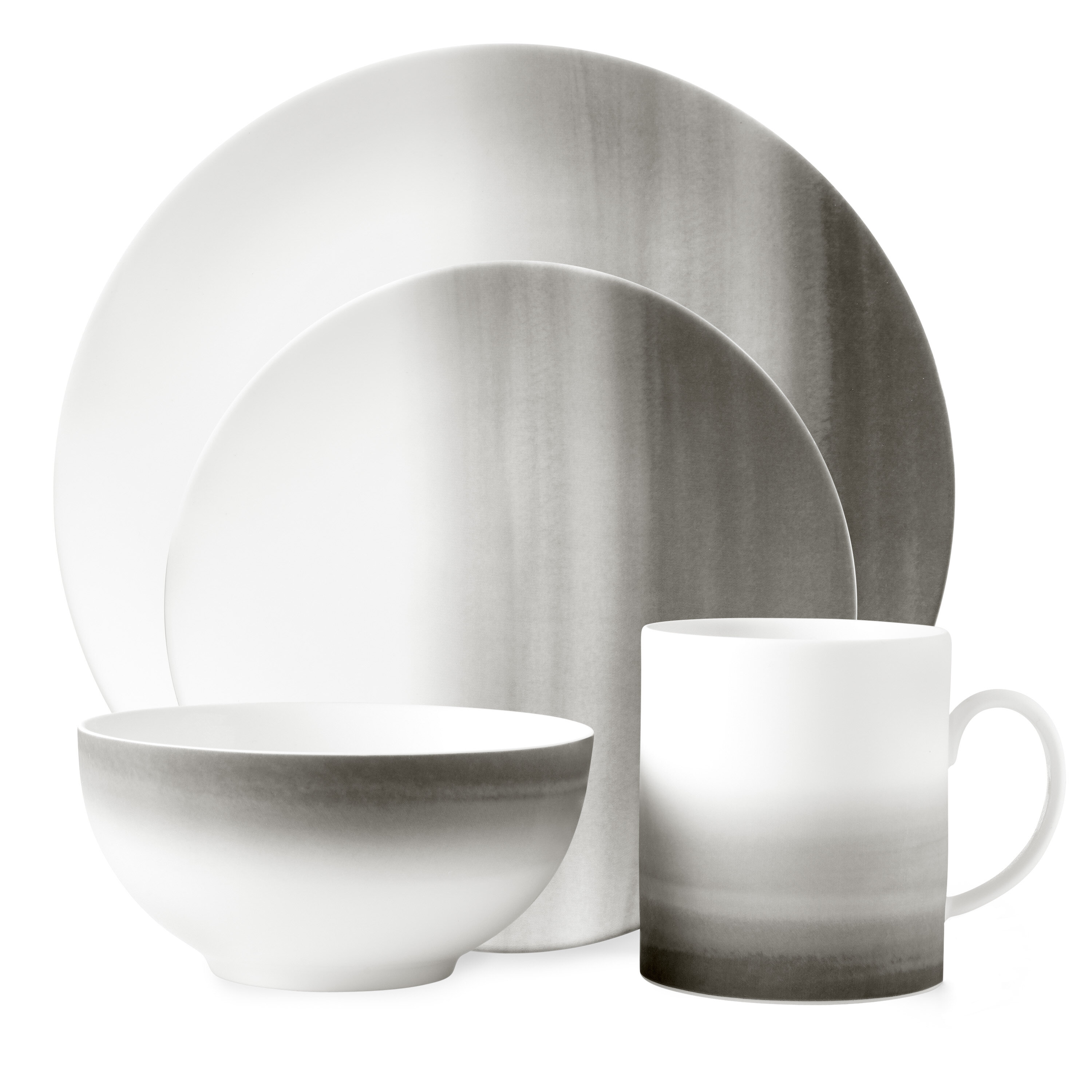 Vera Wang Degradée 4 Piece Bone China Place Setting Set Service For 1 Perigold