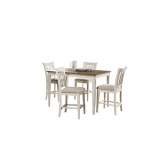 Setta Bayberry 5 Piece Counter Height Dining Set August Grove