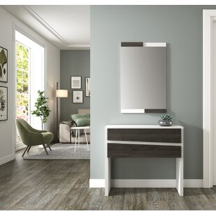 Hoquiam Console Table And Mirror Set By Ebern Designs