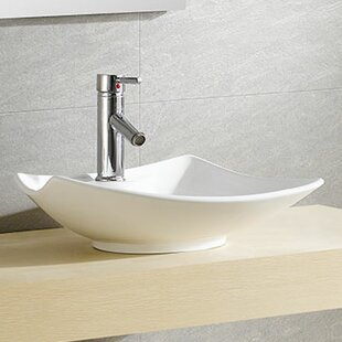 Best Reviews Modern Ceramic Specialty Vessel Bathroom Sink By Fine Fixtures