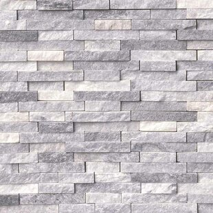 Alaskan Random Sized Marble Splitface Tile In Gray