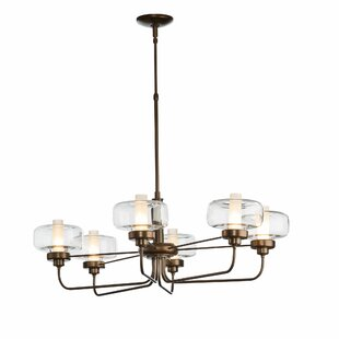 Hubbardton Forge New Traditional Nola 6-Light Shaded Chandelier