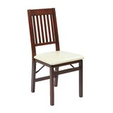 Welwyn Upholstered Slat Back Side Chair in Espresso (Set of 2) by Red Barrel Studio®