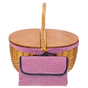 Hard Double Wood Top Picnic Basket