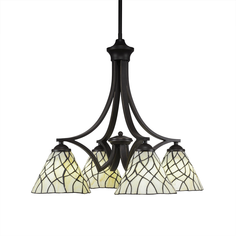 World Menagerie Cambridge 4 Light Shaded Classic Traditional Chandelier With Crystal Accents Wayfair