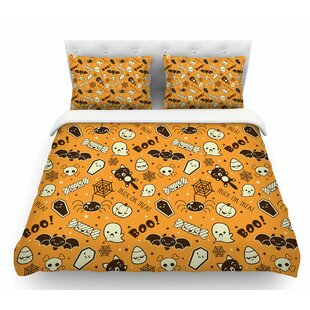 all cute halloween featherweight duvet cover