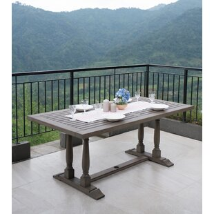 Windell Solid Wood Dining Table by Highland Dunes