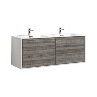 Trieu 59 Wall-Mounted Double Bathroom Vanity Set by Orren Ellis