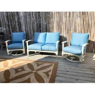 Cross 3 Piece Sunbrella Sofa Seating Group with Cushions