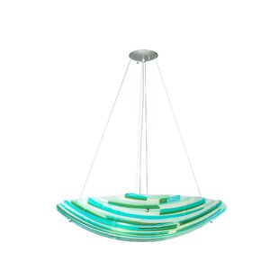 Meyda Tiffany Metro Fusion La Spiaggia Glass 4-Light Bowl Pendant