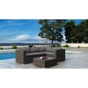 Orren Ellis Gilleland 5 Piece Sectional Set with Sunbrella Cushion