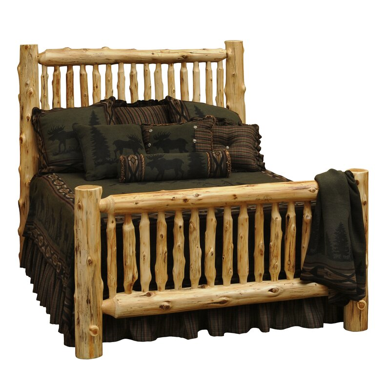 Spindle Cedar Log Bed