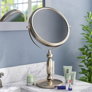Gammon Vanity 15x/1x Magnification Swivel Mirror by Three Posts