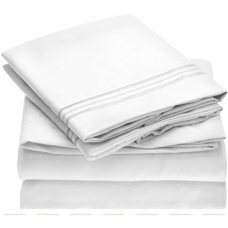 mellanni fine linens 1800 thread count 100 brushed microfiber sheet