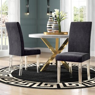 Compare prices Arae Parsons Chair (Set of 2) by Willa Arlo Interiors Reviews (2019) & Buyer's Guide