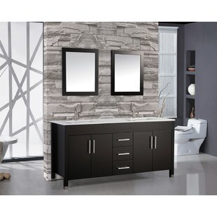 Prahl 71.25 Double Sink Bathroom Vanity Set with Mirror by Orren Ellis