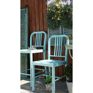 Vintage Metal Side Chair (Set of 2) Glitzhome