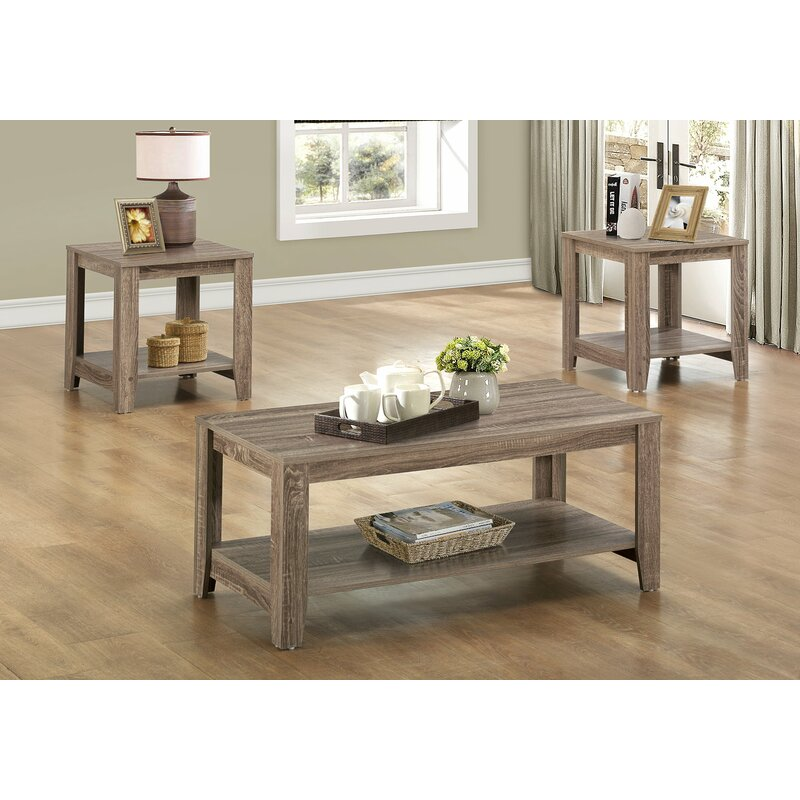 Jalen 3 Piece Coffee Table Set  sc 1 st  Wayfair & Loon Peak Jalen 3 Piece Coffee Table Set u0026 Reviews | Wayfair
