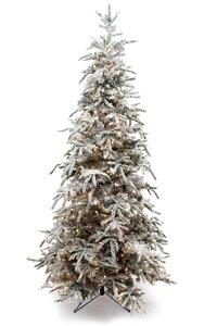 Flocked Balsam Green Pine Tree Artificial Christmas Tree ...