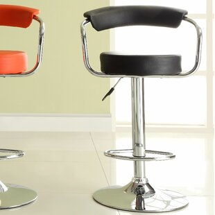 Agrippa Adjustable Height Swivel Aluminum Frame Bar Stool (Set of 2) Orren Ellis