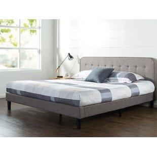 Order Bierman Curved Upholstered Platform Bed ByWrought Studio