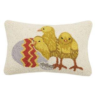 Minton Chicks Wool Lumbar Pillow