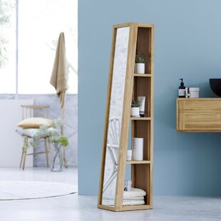 Twig 30 X 150cm Mirrored Free Standing Tall Bathroom Cabinet By Tikamoon