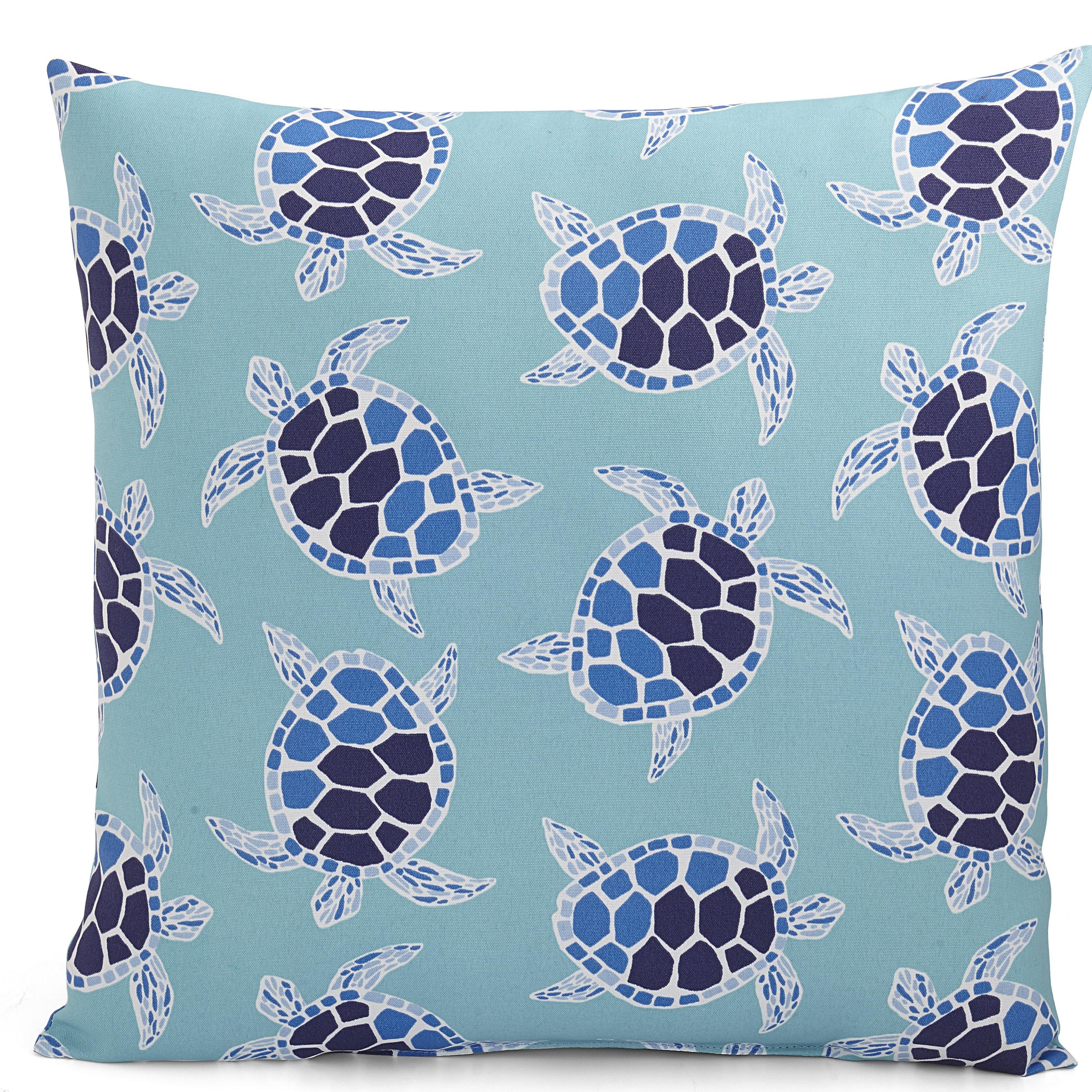 Bayou Breeze Patel Animal Print Tortoise Turquoise Indoor Outdoor Floor Pillow Reviews Wayfair