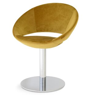 Crescent Round Upholstered Dining Chair by sohoConcept
