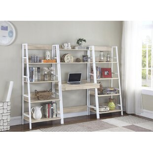 Valorie Ladder Desk With Hutch by Ebern Designs Coupon