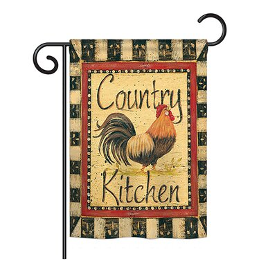 Country Kitchen Nature Everyday Farm Animals Impressions 2-Sided Polyester 1'1 x 1'6 Garden Flag Breeze Decor