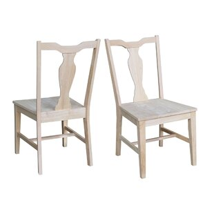 Sproul Panel Back Solid Wood Dining Chair (Set of 2) August Grove