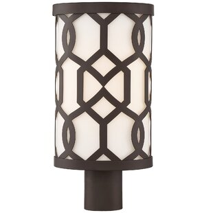 Compare prices Wheless 1-Light Outdoor Post Light By Willa Arlo Interiors