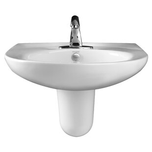 Shopping for Pamlico Vitreous China Semi Pedestal Bathroom Sink with Overflow By Mansfield Plumbing Products