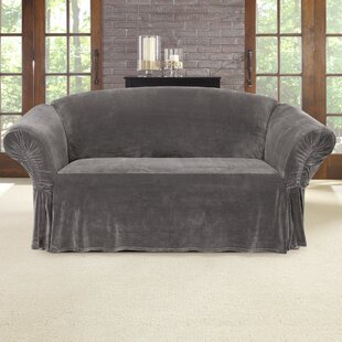 Stretch Plush Box Cushion Loveseat Slipcover by Sure Fit