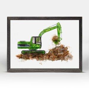 Drew Construction Vehicles Excavator Mini Framed Canvas Art