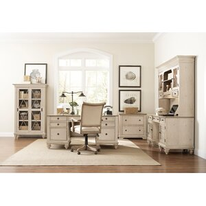 Quevillon Modern 6-Piece Standard Desk Office Suite