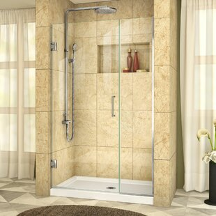 Unidoor Plus 37.5 x 72 Hinged Frameless Shower Door with Clearmax? Technology by DreamLine