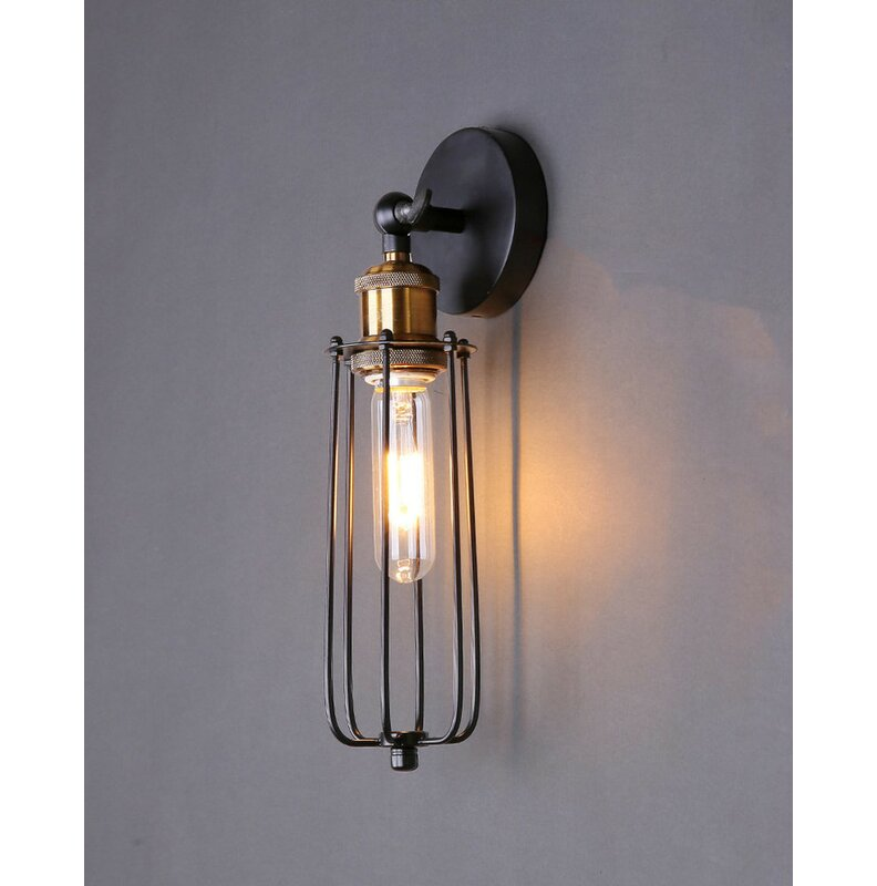 Williston Forge Abella 1 Light Armed Sconce Reviews Wayfair