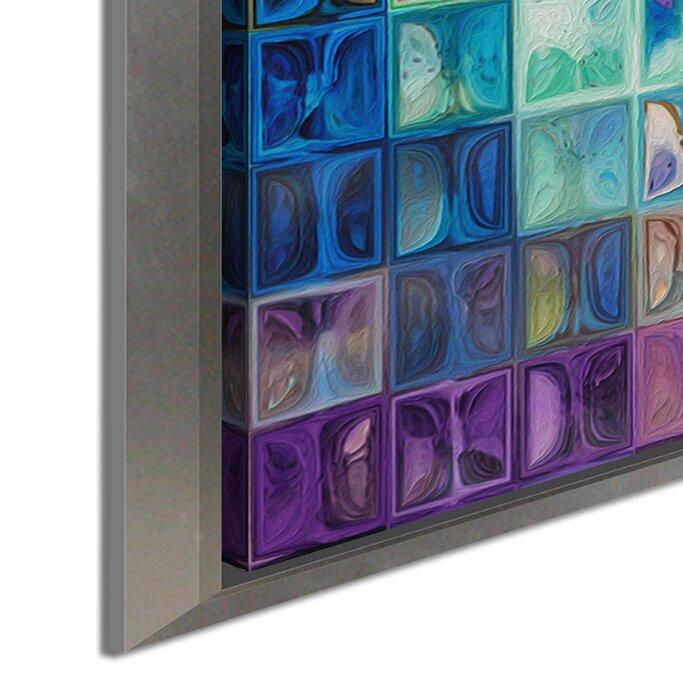 Bloomsbury Market Rainbow Refractions Modern Mosaic Tile Art Painting Framed Graphic Art Print On Canvas Wayfair
