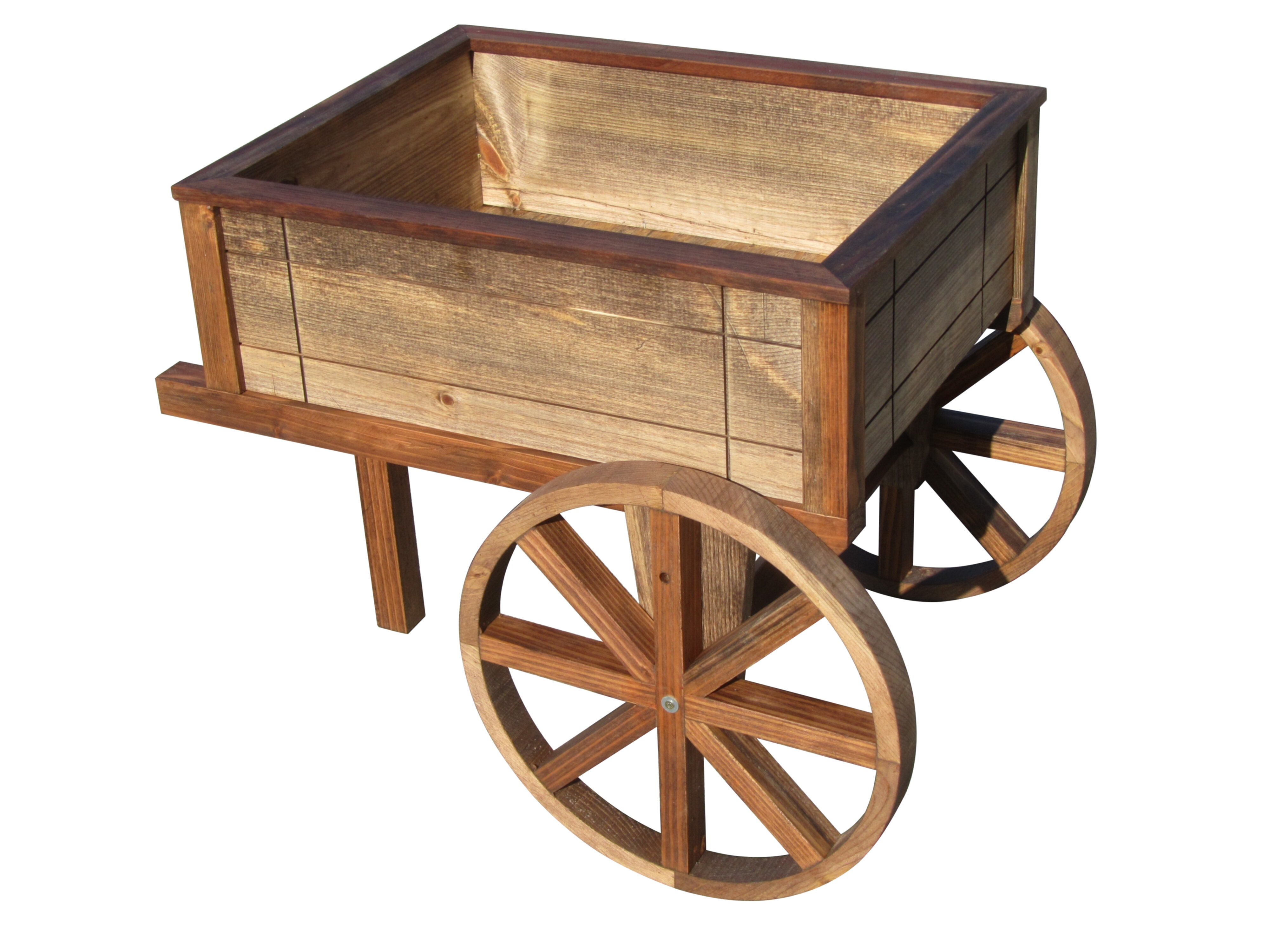 Samsgazebos Wood Wheelbarrow Planter Wayfair