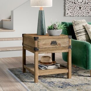 Best Reviews Chasity End Table with Storage by Mistana