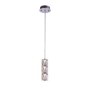 Bromberg 1-Light LED Crystal Pendant by Orren Ellis