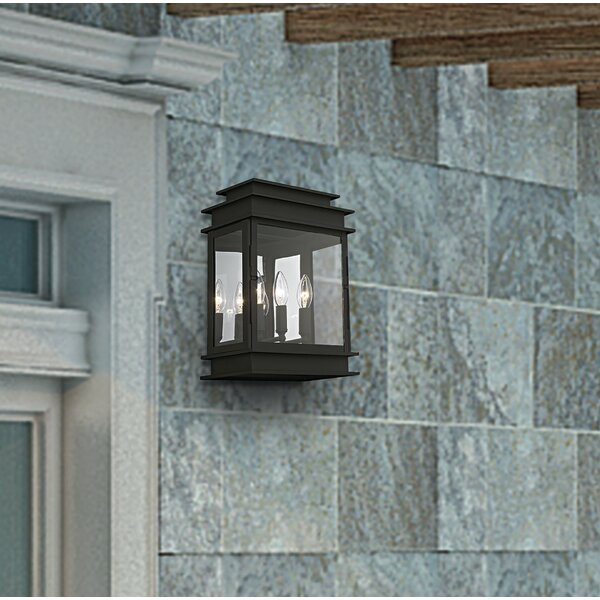 Gracie Oaks Gobinda 3 Light Outdoor Wall Lantern Wayfair