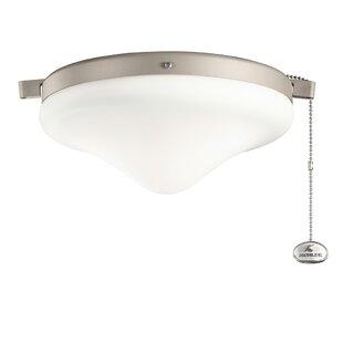 Compare 1-Light Schoolhouse Ceiling Fan Light Kit By Kichler