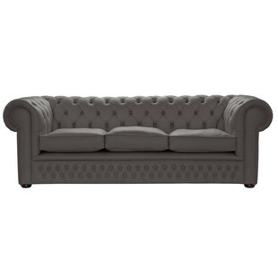 Changir Genuine Leather 3 Seater Chesterfield Sofa By Rosalind Wheeler